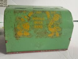 Rare Vintage 1940's General Toy Product Donald Duck Metal Coin Bank
