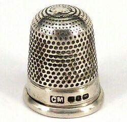 Silver Thimble 1908 Hallmarked Sterling By Charles May