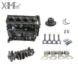 Engine Block Assembly With Piston Kit And Connecting Rod And Crankshaft For Audi