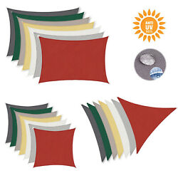 Sun Shade Sail Waterproof Rectangle Square Outdoor Patio Deck Pool Canopy Uv Top