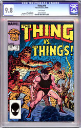 Thing 16 Cgc 9.8 White Pages Fantastic Four 1984