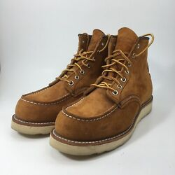 Red Wing Heritage Men's Copper Tan Leather Suede Moc Toe Ankle Boots sz 7 D 4524 $199.99