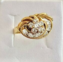 Solid 10k Yellow Gold Diamond Whistle Ring, See Other Gold Jewelery And Coins