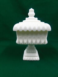 Vintage Westmoreland Milk Glass Wedding Bowl Candy Dish Compote Marked