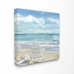 Wall Art Canvas Beach Nautical Ocean Decor 24x24 Home Office Gift Wedding New $44.95