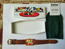 Roadrunner Wile E Coyote Watch Armitron Limited Edition Looney Tunes-nib-rare