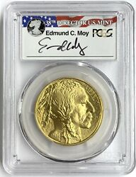 2016 50 1 Oz American Gold Buffalo Pcgs Ms70 First Strike 10th Ann Edmund Moy