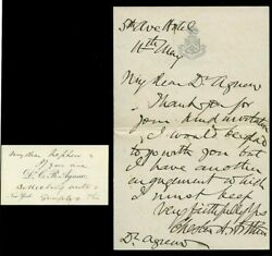 Superb And Rare, President Chester A. Arthur Handwritten And Signed Letter, No Date
