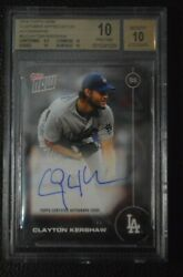 2016 Topps Now Platinum Clayton Kershaw Auto /25 3 Bgs 10 W/ 3x10 Subs And 9.5andnbsp