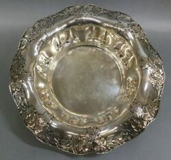And Co 16346a Makers Sterling Silver Fruit Bowl 28.765 Ozt 925/1000