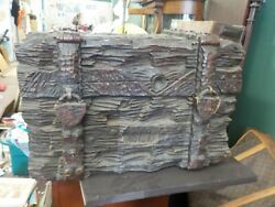 Rare 19th Century German Black Forest Hand Carved Trunk