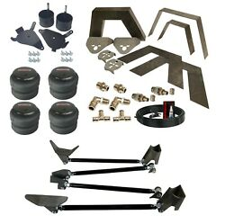 Airmaxxx Front Rear Air Bag Weld On Kit Notch Triangulate 4 Link For 1982-05 S10