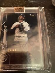 2020 Topps Clearly Authentic Seattle Marines Justin Dunn /75 Auto