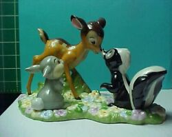 Disney Auctions Limited Ed. Bambi Thumper And Flower Salt Shakers