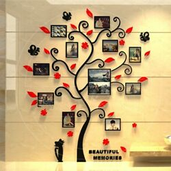 DIY 3D Photo Frame Tree PVC Wall Decals Family Sticker Mural Art Home Room Decor