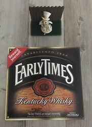 Early Times Whiskey 1860 Metal Tin Sign 16 X 15 Very Nice