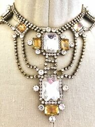 1920s Vintage Bijoux Necklace And Earrings From Czech Republic Bohemia