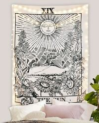 Tarot Card Fabric Wall Tapestry The Sun Bamp;W Wiccan Home Decor 27.5quot; x 39quot;