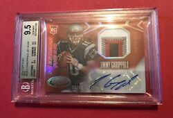 Jimmy Garoppolo 2014 Certified Rc Mirror Red 4 Color Patch Auto Sp /49 Bgs 9.5