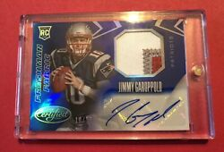 Jimmy Garoppolo 2014 Certified Rc Blue 3 Color Patch Auto Sp Jersey 10/25 1of1