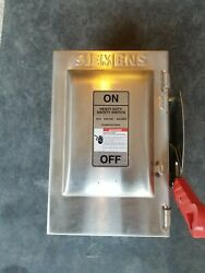 Siemens Hnf361ss 30 Amps Ac 600vac 3pole Non Fused Nema 4x Stainless Steel