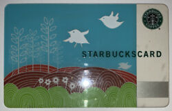 Starbucks 2008 Old Logo Swallow's Song Thailand Card 6051 Series Rare Find