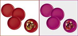 Tupperware Round Sturdy Rimmed No Spill Party / Dinner Plates Pick Color
