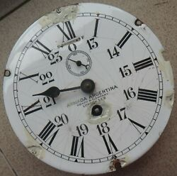 Heath And Company Military Ship Clock Movement And Dial 18 Cm. In Diameter