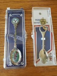 Set Of 2 Silver Plated Spoons Ahwahnee Hotel Yosemite Vintage Collectibles