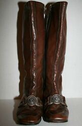 French Military Insignia Buckle Boots Womens Regiment 10 De Cuirassiers Vtg 60s