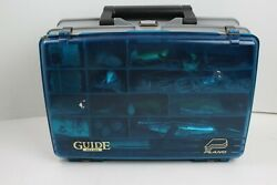 Plano Guide Series Fishing Tackle Box 1258 W/ Vintage Lures Bate