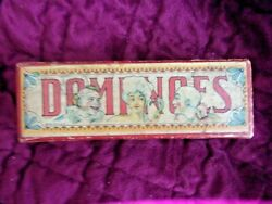 Antique Dominoes Halsam Products Chicago Ill. Usa 28 Pieces