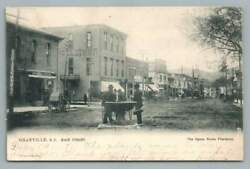 Horse Watering Fountain Granville New Yorkantique Udb Postcard Stores Dirt Road