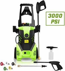 Premium 3000psi Electric Pressure Washer 1.8gpm 1800w Power Washers Cleaner New