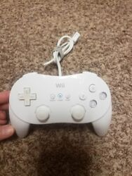 Official Nintendo Wii Pro Controller Classic White Rvl-005 Oem Tested