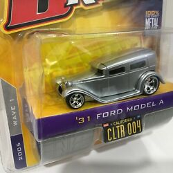 2005 Jada Toys D Rods 1931 '31 Ford Model A 164 Die-cast Gray Wave 1 New In Pkg