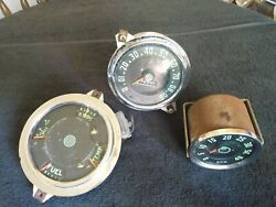 Speedometer Jeep P/n 565dmg10 Vintage 1940andlsquos 50andlsquos Ac Tachometer 0-40 Rpm And Am