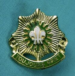 Us Ww2 British Made 2 Armored Cavalry Regiment Toujours Pret Di Pin Badge Gaunt