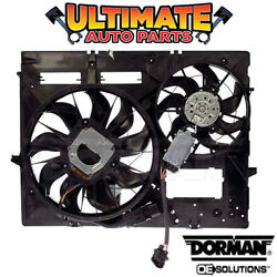 Radiator Cooling Fan 3.0l Diesel W/controller For 09-10 Touareg Tow Package