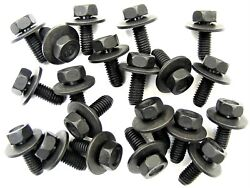 Gm Truck Body Bolts- M6-1.0 X 16mm Long- 10mm Hex- 17mm Washer- 20 Bolts- 180