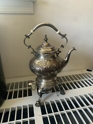 Gorham Sterling Silver Water Kettle Antique- Exquisite Finely Hand Chased.