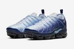 Nike Menand039s Air Vapormax Plus Blizzard Size 10.5 Coastal Blue Brand New Sold Out