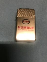 Esso Lighter With Esso Logo, Humble And Oil Drop Boy I