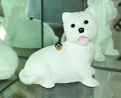 Timmy Woods Bh White Westie Dog West Highland Terrier Hand Carved Acacia Purse