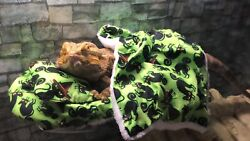 BLACK CAT PRINTS LRG ATTACHABLE RESTING WHOLE BED SET COVERS 4 BEARDED DRAGONS