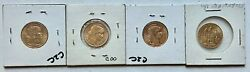 4- 20 Franc Gold Coins Dates Are 1910 1905 1905 And 1879 See Other Gold Coins