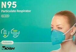 Byd Genuine N95 Foldable Protective Disposable Mask Surgical Niosh 20-count