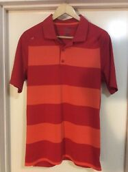 Hydrolix + Callaway Golf Mens Polo Shirts M Med Red Orange Great Cond