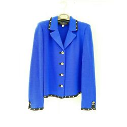 St. John Collection By Marie Gray Vintage Two Piece Skirt Suit Blue Sz 10