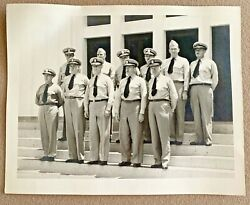 Vintage Wwii Photograph Of 11 Military Men -- Named Captains And Rear Admirals